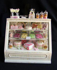Sweet shop counter #miniature #tiny #food #dollhouse #handmade #craft #fimo