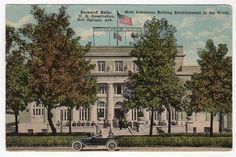 Vintage 1920's Arkansas Postcard Buckstaff Baths Building Exterior Hot Springs Ark F C Boving Unused