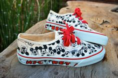 bc6eeb5df27f49 Vintage Deadstock Mickey Vans Rare Mickey Mouse by ICaughtTheSun Disney  Shoes