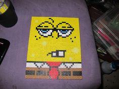 SpongeBob hama perler beads by SaturninePulchritude
