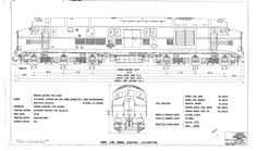 18222: Main line diesel electric locomotive - a drawing of complete loco 10000