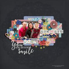 Template: Two Tiny Turtles - Happy iNational Scrapbook Day 2015 Freebie   Kit: Amanda Yi and Meghan Mullens - You Make My Heart Smile