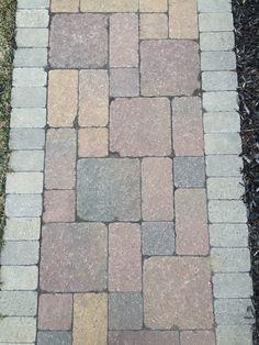 Brick pavers Unilock Stonehenge All Natural Landscapes Hartland Michigan, Brick Paver Patio, Stonehenge, Wall Design, Landscapes, Sidewalk, Natural, Courtyards, Paisajes