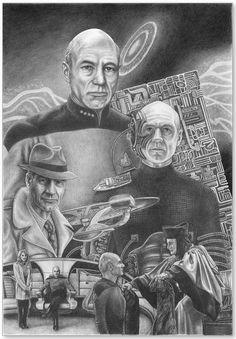 Star Trek: Next Generation Jean-Luc Picard Wall Art Star Trek Borg, Star Wars, Akira, Star Trek Characters, Star Trek Original Series, Star Trek Ships, Star Trek Universe, Star Trek Voyager, Uss Enterprise