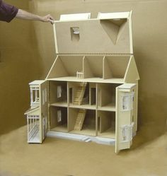 dollhouse stairwell | Custom hinges and shutters included