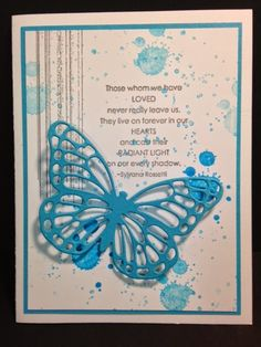 Butterfly Thinlits, Gorgeous Grunge' Love & Sympathy, Sympathy Card, Stampin' Up!, Rubber Stamping, Handmade Cards