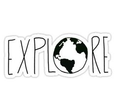 """""""Explore the Globe III"""" Stickers by Leah Flores Diy Sticker, Stickers Cool, Bubble Stickers, Phone Stickers, Printable Stickers, Sticker Design, Proyectos Cricut Explore, Tumblr Sticker, Collage Mural"""
