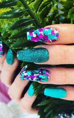 It allows you to earn an acrylic nails design ideas. So take a look at the ideal nail designs which you are able to consider. All you have to do is pick out the proper nail design to suit whatever… Summer Acrylic Nails, Cute Acrylic Nails, Summer Nails, Cute Nails, Pretty Nails, Long Nail Designs, Acrylic Nail Designs, Nail Art Designs, Nails Design