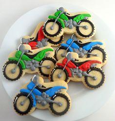 Dirt Bike Motorcycle Cookies | Sunflower Baking