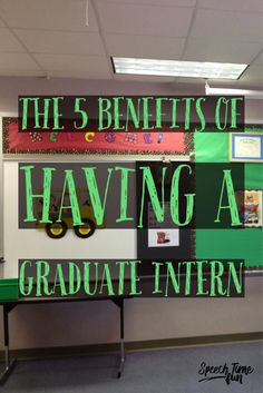The 5 Benefits of Having a Graduate Intern for Speech and Language