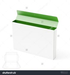 Slim Gusseted Empty Box With Die Cut Template Stock Photo 339921038 : Shutterstock
