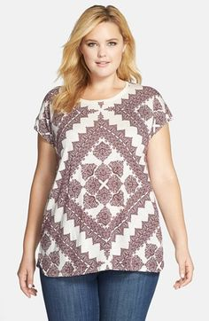 09d24be8569c7 Lucky Brand Scarf Print Tee (Plus Size)