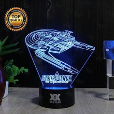 Battleship B 3D Night LAMP 7 Colour Touch Switch Table De…