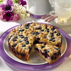 Blaubeer-Streuselkuchen Rezept   LECKER