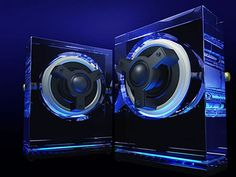 """""""Kenwood - 7 Sleek Glass Speakers ,For Crystal-Clear Sound""""...They Must Be Alien !...  http://about.me/Samissomar Pero no lo digas en voz alta! miau. #audio #tech #design #music #speakers #fashion #audiosystem"""