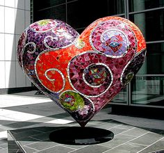 several pieces on page Mosaic Heart Art – Happy Valentine's Day! I Love Heart, Happy Heart, Humble Heart, Art Beauté, Jean Tinguely, Drawn Art, Mosaic Madness, Mosaic Projects, Keith Haring