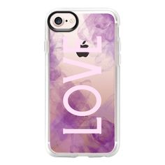 Love Me Purple - iPhone 7 Case And Cover (1.145 UYU) ❤ liked on Polyvore featuring accessories, tech accessories, phone cases, iphone case, purple iphone case, apple iphone case, iphone cases, clear iphone case and iphone cover case