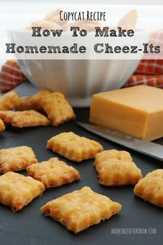 If your children are a fan of these crackers but you aren't convinced that they are great for them, you should try this copycat recipe for homemade Cheez-Its!