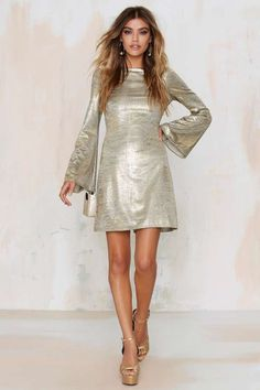 Selena Metallic Dress - Clothes | Party Shop | Going Out | Sequins & Glitter | Clothes | Dresses & One Pieces
