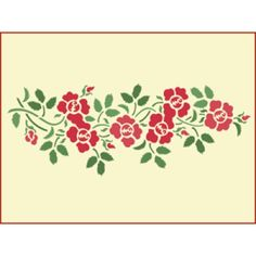 Rose Garland Stencil | Gorgeous home decor and crafting stencil from The Artful Stencil! US Shipping in only 5 days. We ship all over the world.