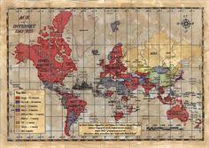 So sieht das Internet auf einer Weltkarte aus  The Internet on a World Map