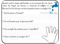 Nani Palau, seguidora del blog, es nuestra nueva colaboradora. Ha traducido al catalán nuestro nuevopaquete de10 fichas decomprensión lectoracon mano deautoevaluaciónyautoinstrucciones. Estas 10 con la mano que suelo usar para …