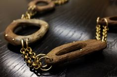 "from the collection ""NYKIRKA-NORSE UPHEAVEL"" brass, norwegian wood Norwegian Wood, Brass, Bracelets, Leather, Handmade, Men, Collection, Jewelry, Bangles"