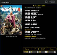 Far cry 4 Hack Cheats  http://abiterrion.com/far-cry-4-hack-cheats-tool/