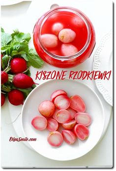 Kiszone rzodkiewki Fruit Recipes, Recipies, Pickled Radishes, Pickles, Dips, Canning, Dinner, Vegetables, Eat