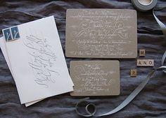 #Calligraphy #wedding #invitations