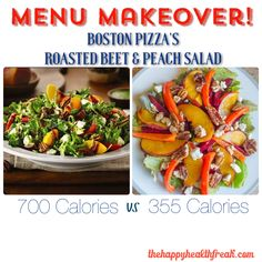 Menu Makeover ~ Boston Pizza's Roasted Beet and Peach Salad