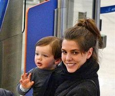 Mademoiselle Charlotte Casiraghi and son, Raphael