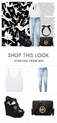 """#38"" by darina-kozlova ❤ liked on Polyvore featuring Zara, Dsquared2, Steve Madden, MICHAEL Michael Kors and yunotme"
