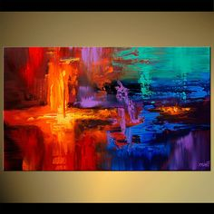 Abstract Art and Modern Art, Abstract Paintings - NEW WORLD by Osnat Tzadok …