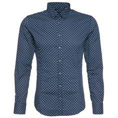 Hemd mit Muster ab 39,90 € Hier kaufen: http://stylefru.it/s544135 #hemd #blau #punkte