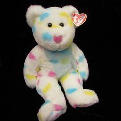 3222c855079 Ty Beanie Buddies Kissme Heart Teddy Bear 14