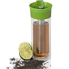 AdHoc - Termohrnek s infuzérem Thermo Tea zelený - Lahve.eu