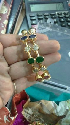 Necklaces – Page 3 – Modern Jewelry Kids Gold Jewellery, Gold Jewelry Simple, Gold Jewellery Design, Emerald Jewelry, Beaded Jewelry, Latest Jewellery, Plain Gold Bangles, Gold Bangles Design, Diamond Bangle