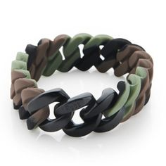 Army black plated bracelet ~~ For men and women  order yours bow using raha@therubz.net