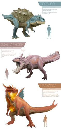 This once extinct beast is well known for it's massive shield-like crest, giving it the name of 'The living wall'. its defenses are amazing, both physical and special, mind you. Their bodies are al...