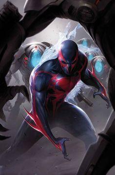 Spider-Man 2099 Vol 2 3 - Marvel Database - Wikia Marvel Comics, Bd Comics, Marvel Art, Anime Comics, Marvel Heroes, Comic Book Characters, Marvel Characters, Comic Character, Spiderman Kunst