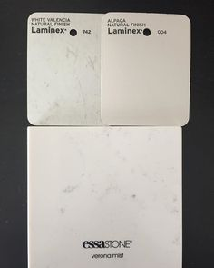 Samples here there and everywhere!! #samplesgalore #colours4clients #essastone #laminex #whiteonwhite #marblelook #whiteout #building #mener #propertydeveloper #perth #menergroup #itshowebuild #stone #laminates #kitchen #bathroom