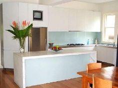 Cocina en blanco con cristal Lacado Lacobel  #kitchen #white