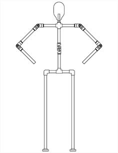 Single Spine Body Hardware Kit (with fixed legs)-The has been redesigned! The is our basic body frame hardware kit. This is a great kit if you are building a standing prop without the need for adjustable legs. Halloween Decorations For Kids, Halloween Games, Scary Halloween, Halloween Crafts, Holiday Crafts, Nightmare Before Christmas Halloween, Holidays Halloween, Foam Wigs, Wood Yard Art
