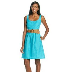 Nine West® Top Stitch Linear Burn Out Dress 68.00