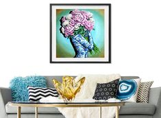 Pink And White Peonies Wall Art Print by Laural Retz