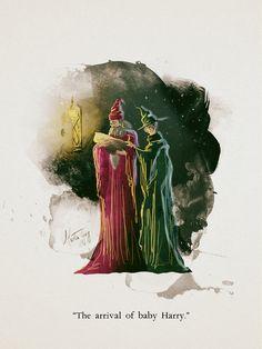 Dumbledore and McGonagall. Artist: Martin Georg