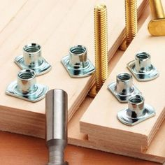"Buy Sliding T-Nuts, 1/4""-20 at Woodcraft.com"