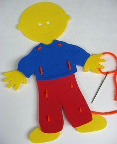 Lacing card dolls using the cricut... love this idea!
