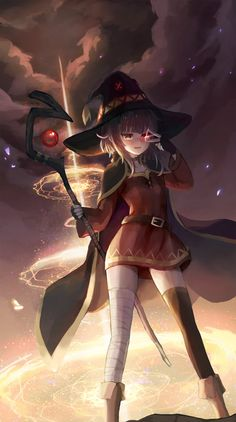 Megumin x [KonoSuba] Dark Anime, Kawaii, Anime Hd, Best Waifu, Anime Characters, Anime Artwork, Anime Drawings, Manga, Anime Chibi